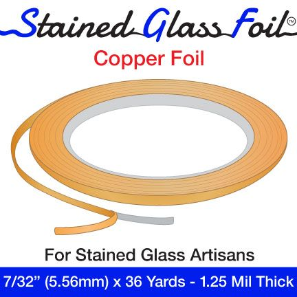 "12569-Stained Glass Foil Copper 7/32"" 1.25 Mil"