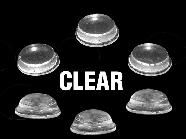 12795-Round Bumpers Clear 100/Pk