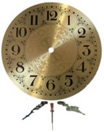 "13531-Clarity 7"" Brass Clock Face With Hands"