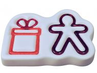 47568-Gingerbread Man & Gift Mold