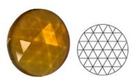 62344-25MM Med. Amber Round 54 Facets