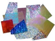 74583-1/2# Dichro. Crinklized Scrap 96 CBS Random Sized Pieces