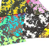 74585-1/2# Dichro. Splatter Scrap 96 CBS Random Sized Pieces