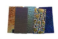 74553-1/4# Dichro. Scrap Thin Texture Black 90 Austin Random Sized Pieces