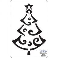 91050-Stencil #SG103 Swirly Holiday Tree 5.25