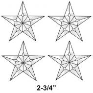 EC225-Exquisite Cluster Small 5 Point Star