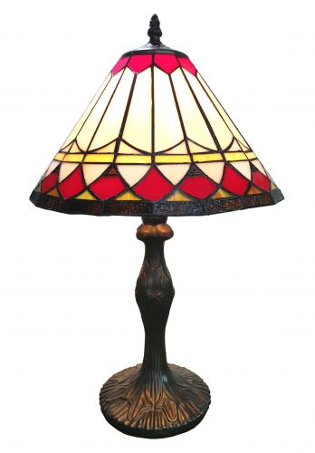 83113-Border Pattern Tiffany Stained Glass Shade & Lamp Base